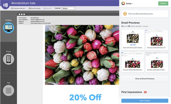 litmus email preview and testing tool
