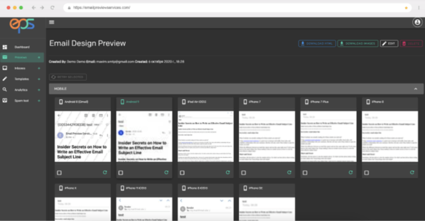 Preview My Email email testing tool