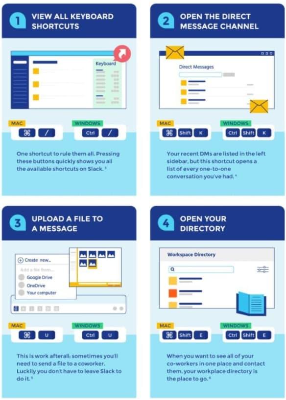 slack tips infographic